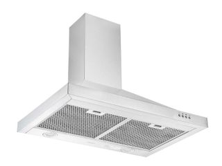 Ancona 30 in  450 CFM Ducted Rear Venting Wall Mount Pyramid Range Hood with lED in Stainless Steel  Silver