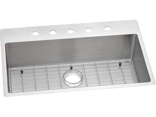 Elkay Crosstown Stainless Steel 33  x 22  x 9  Single Bowl Dual Mount Sink Kit retail price  408 49