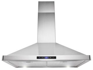AKDY 30  Wall Mount Range Hood Stainless Steel Touch Panel lED Two Mesh Filters Modern Contemporary Kitchen Stove