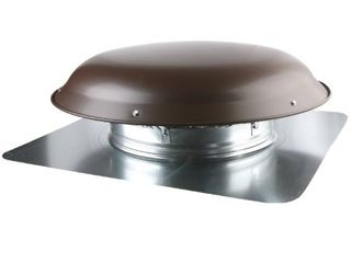 Ventamatic VX25 BRNUPS Static Galvanized Steel Dome and Flange Roof Vent  Brown