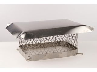 Master Flow 13 in  x 13 in  Stainless Steel Fixed Chimney Cap NEW READ