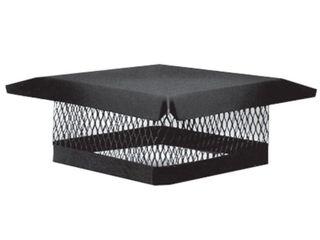 Master Flow 9 in  x 13 in  Galvanized Steel Fixed Chimney Cap in Black