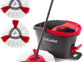 O Cedar EasyWring Microfiber Spin Mop and Bucket Floor Cleaning System with 2 Extra Power Refills  Multi Colored