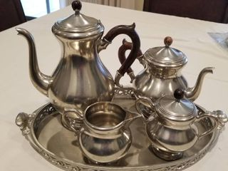 Holland International silverplate coffee and tea set