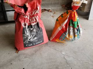 Ice melt and kitty litter