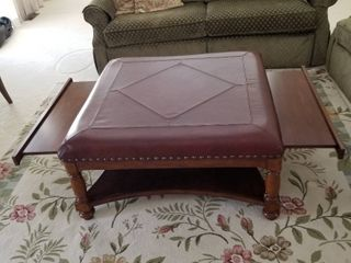leather top ottoman coffee table 40 x 40