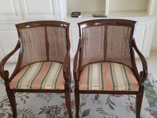 Set of 2 Caine chairs 34 x 23