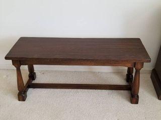 Wood bench 17 1 2 x 40 x 13