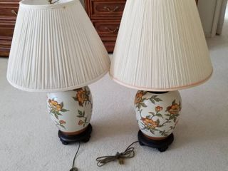 Oriental lamps set of 2  31   tall