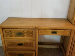 Dixie Wicker Weve desk and chair 31 x 46 x 18