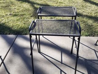 Wrought iron tables set of 2