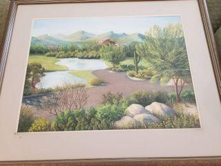Framed 32 x 37 by Jennings 9 95