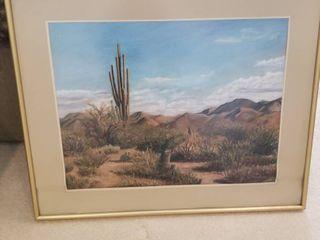 Framed print The Desert Floor 24 x 31