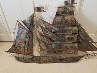 Copper ship 27 x 40