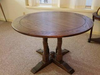 Round wood table 40  diameter