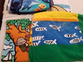 Assorted beach towels