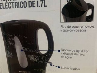 KitchenSmith by Bella Electric Tea Kettle Black 1 7l  New open box
