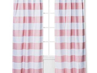 Twill light Blocking Curtain Panel Pink  42 x84    Pillowfort