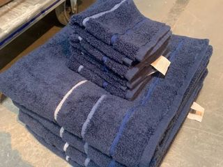 4 Bath Towels  4 Wash Rags Dark Blue