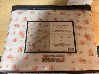 Amrapur Overseas Inc  Printed Sheet Set Sweet Rose Ivory