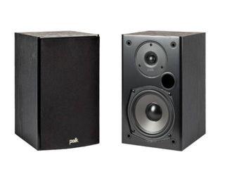 Polk Audio T15 100 Watt Home Theater Bookshelf Speakers  Pair    Dolby and DTS Surround   Wall Mountable   Black