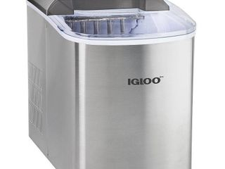 Igloo 26 lb  Countertop Ice Maker ICEB26SS  Stainless Steel