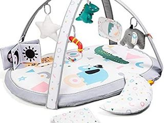 Washable Replaceable Baby Gym Activity Center Play Mat with 2 Mat Covers  lupantte Visual  Hearing  Touch  Cognitive Early Development Playmats