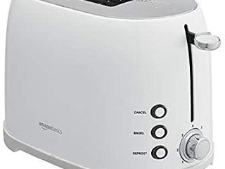 Amazon Basics 2 Slot Toaster  White