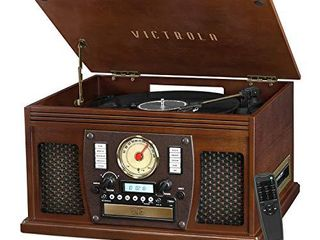 Victrola 8 in 1 Bluetooth Record Player   Multimedia Center  Built in Stereo Speakers   Turntable  Wireless Music Streaming   Espresso