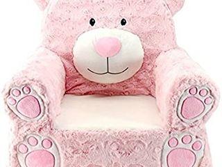 Animal Adventure   Sweet Seats   Pink Bear Children s Plush Chair  large 14  x 19  x 20