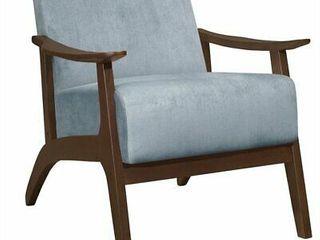lexicon Carlson Velvet Upholstered Accent Chair in Blue Gray