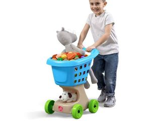 Step2 little Helper s Shopping Cart   Blue Toy Shopping Cart for Toddlers