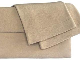 Micro Fleece Sheet Set   Size  King  Color  Tan