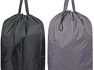 Washable Travel laundry Bag with Handles and Drawstring  Heavy Duty large Enough to Hold 3 loads of laundry  Fit a laundry Basket or Clothes Hamper  24 5x34 5 in Grey and Black