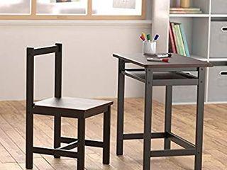 Amazon Basics Solid Wood Kid Desk and Chair  Espresso