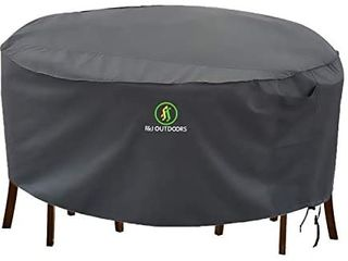 F J Outdoors Heavy Duty Waterproof UV Resistant Table and Chair Cover for Furniture Grey  Modern   110  x 27 5