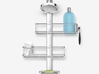 simplehuman Adjustable Shower Caddy Stainless Steel and Anodized Aluminum  Standard