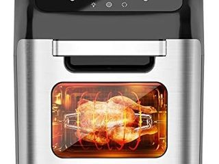 whall Air Fryer  13QT Air Fryer Oven  Family Rotisserie Oven  1700W Electric Air Fryer Toaster Oven  Tilt led Digital Touchscreen  12 in 1 Presets for Baking  Roasting  Dehydrating  with Accessories