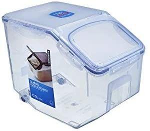 lOCK   lOCK Easy Essentials Food lids  Flip Top    Pantry Storage  BPA Free  Top 50 7 Cup for Rice  Clear