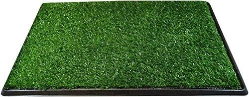 Downtown Pet Supply Dog Pee Potty Pad  Bathroom Tinkle Artificial Grass Turf  Portable Potty Trainer Full System  Trays  and Replacement Grass