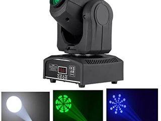 Mini 10W RGBW lED 7 Gobos Stage Moving Head lights DMX512 9 Channel DJ Party Show PAR Projector lighting lE 10WHl