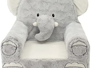 Animal Adventure   Sweet Seats   Grey Elephant Children s Plush Chair