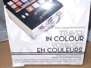 THE COlOR WORKSHOP Travel In Colour 27 piece makeup train case