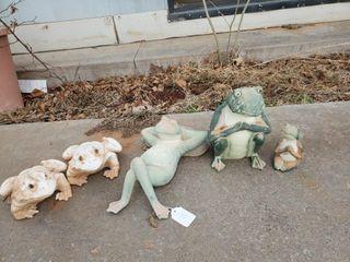 Asst  Toad Garden Decor