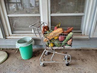 Mini Shopping Cart   Trash Cans