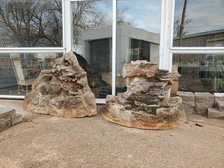 2   Fiberglass Artificial Rocks