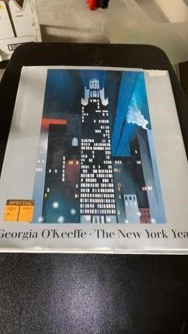 GIANT BOOK  GEORGIA OKEEFE  THE NEW YORK YEARS