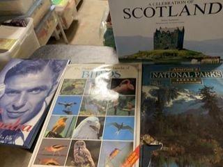 BOOKS OF SINATRA  BIRDS  PARKS AND SCOTlAND