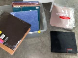 TOTE OD SCRAP BOOKS   BINDERS AND lAMINATE SAMPlE