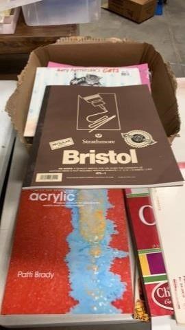 BOX OF CARD STOCK  RETHINKING ACRYlIC BOOK